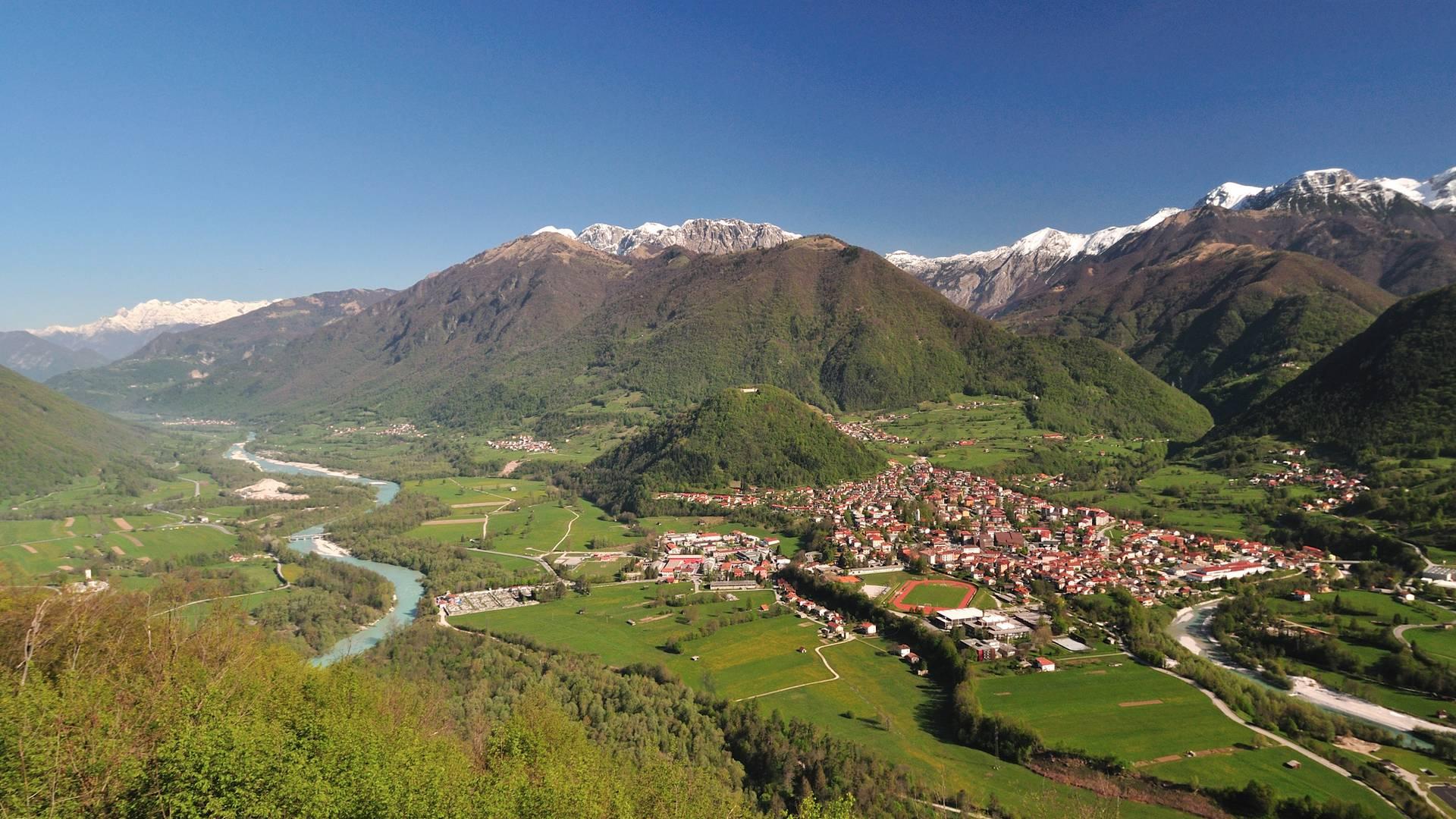Alpe adria trail web E 27 bei Tolmin