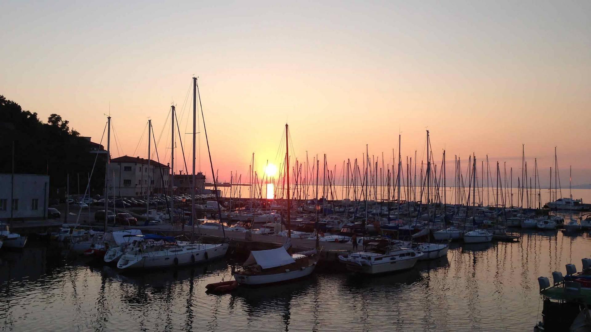 Sonnenuntergang in Muggia