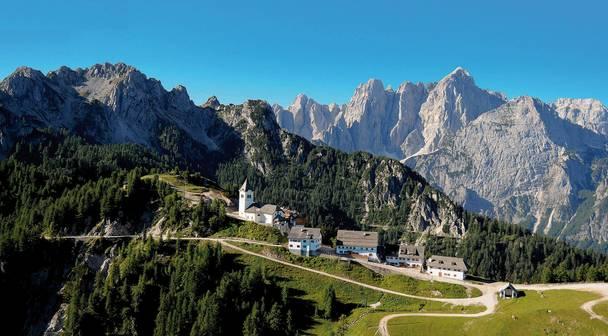 Monte Lussari mit Wallfahrtskirche Maria Lussari
